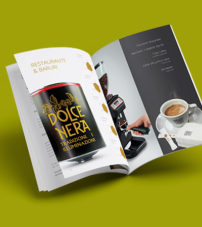 Gourmet Coffee - Brochure Design